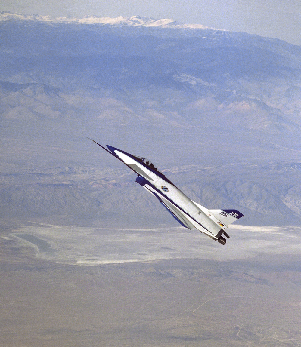 Space History Photo: X-31 at High Angle of Attack