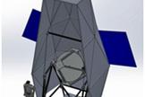 A CAD model of the Echobeach balloon experiment.
