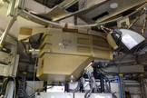 The ArTeMiS cryostat installed in the APEX telescope on the Chajnantor Plateau in northern Chile. ArTeMiS is a new wide-field submillimetre-wavelength camera that will be a major addition to APEX's suite of instruments and further increase the depth and detail that can be observed. Image released Sept. 25, 2013.