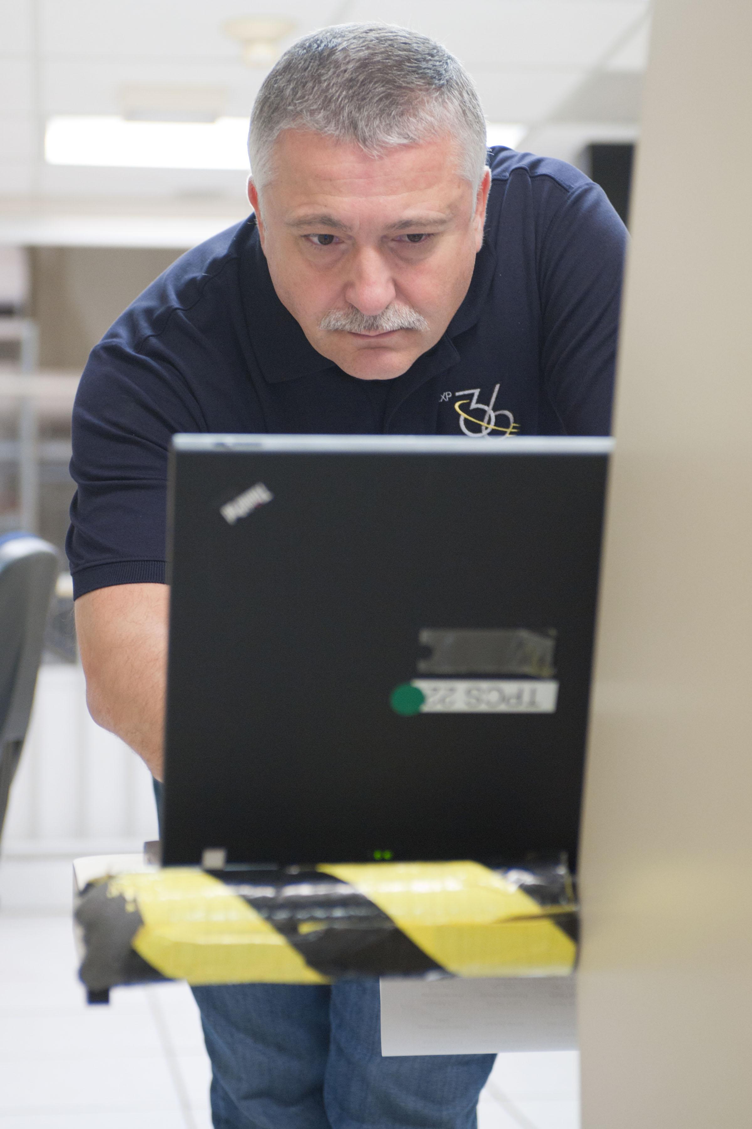 Fyodor Yurchikhin at Space Station Training Facility