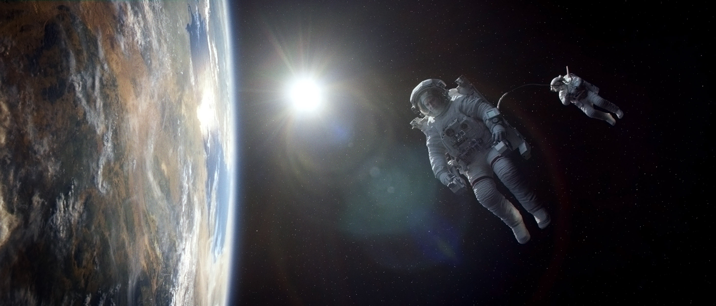 A Scene From Science-Fiction Thriller 'Gravity'