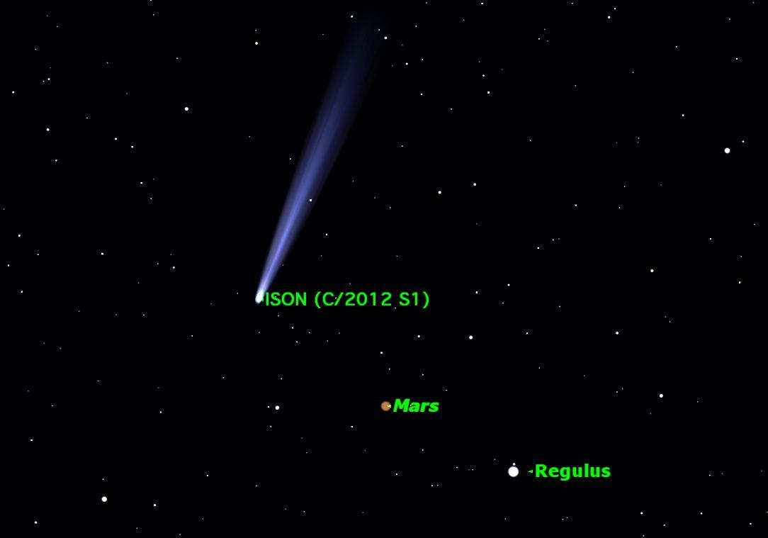 Comet ISON Buzzed Mars