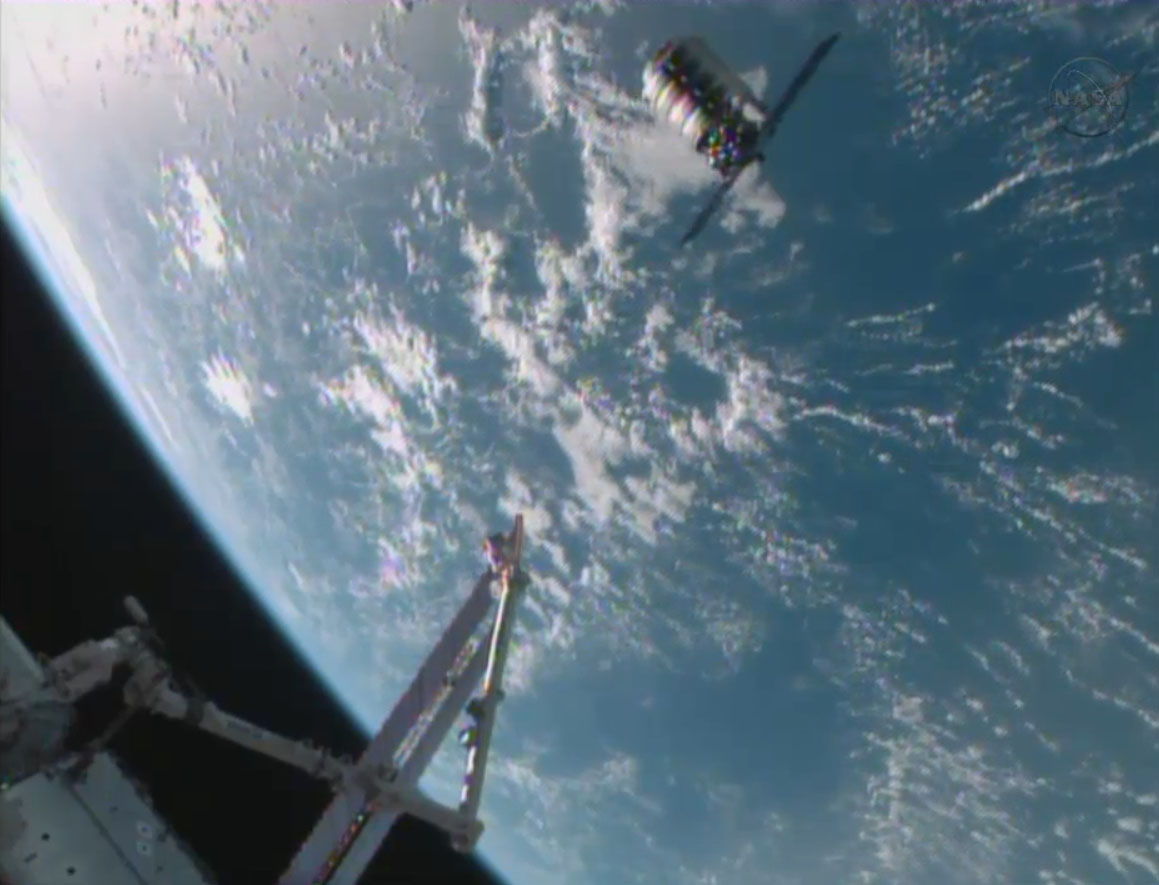 1st Cygnus Spacecraft Arrives at ISS