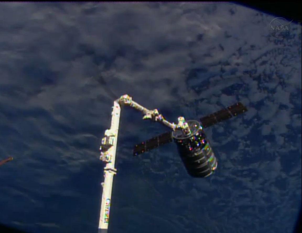 Cygnus Spacecraft Captured at ISS