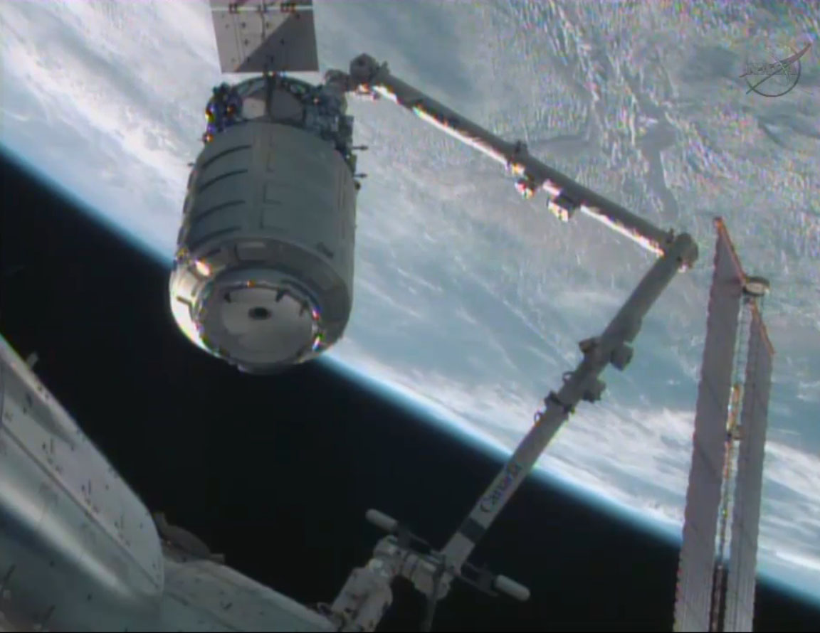 Cygnus Spacecraft's Cargo Unloaded by Space Station Astronauts