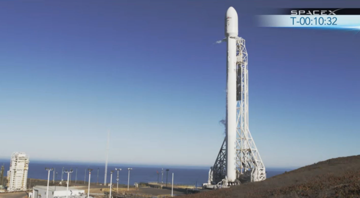 SpaceX Falcon 9 Rocket V 1.1 Ready