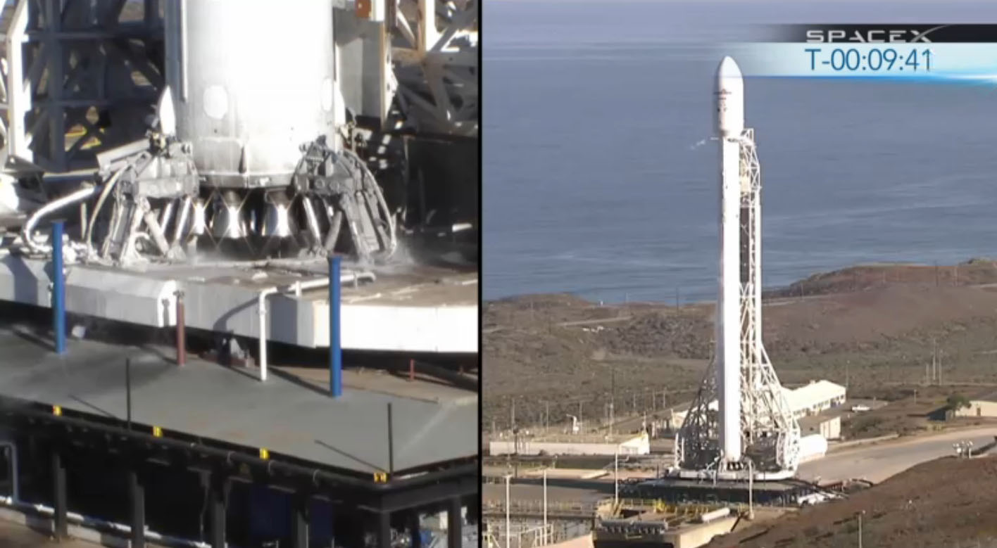 SpaceX Falcon 9 Rocket V 1.1: Split View