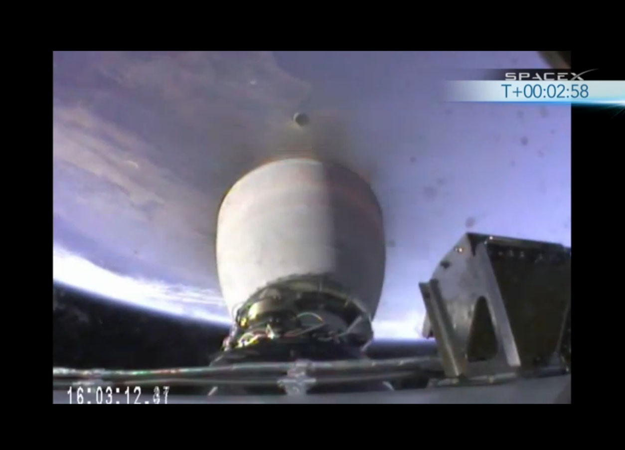 SpaceX Falcon 9 Rocket Launch Test: Stage Separation