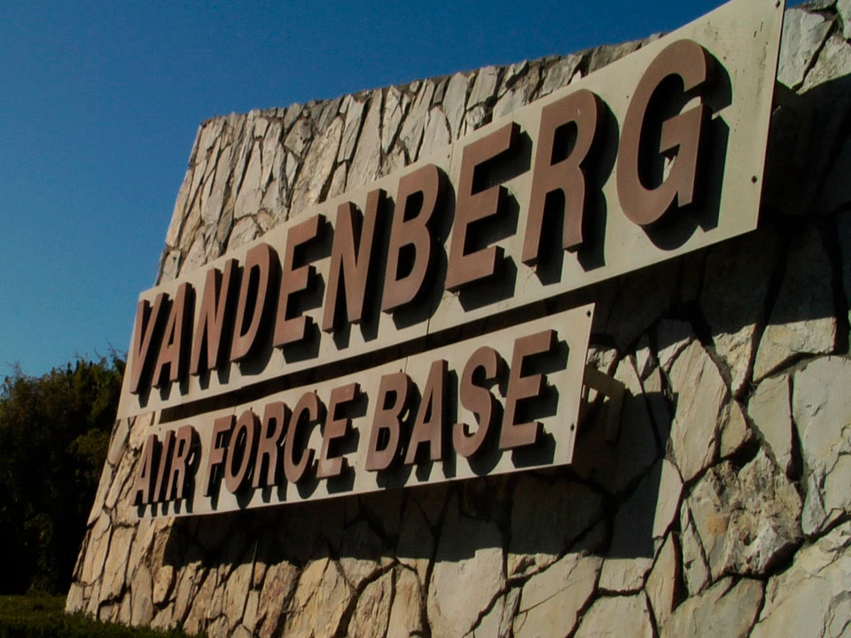 Vandenberg Air Force Base Sign