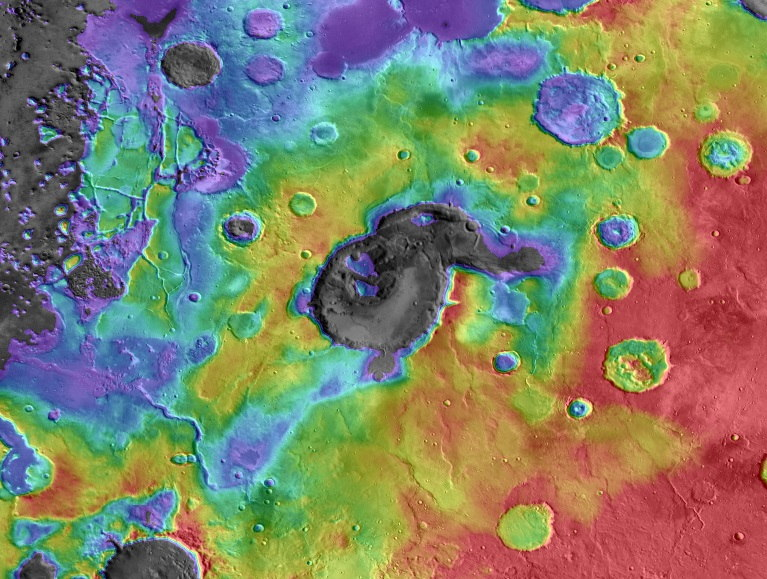 Explosive Supervolcanoes May Have Rocked Ancient Mars