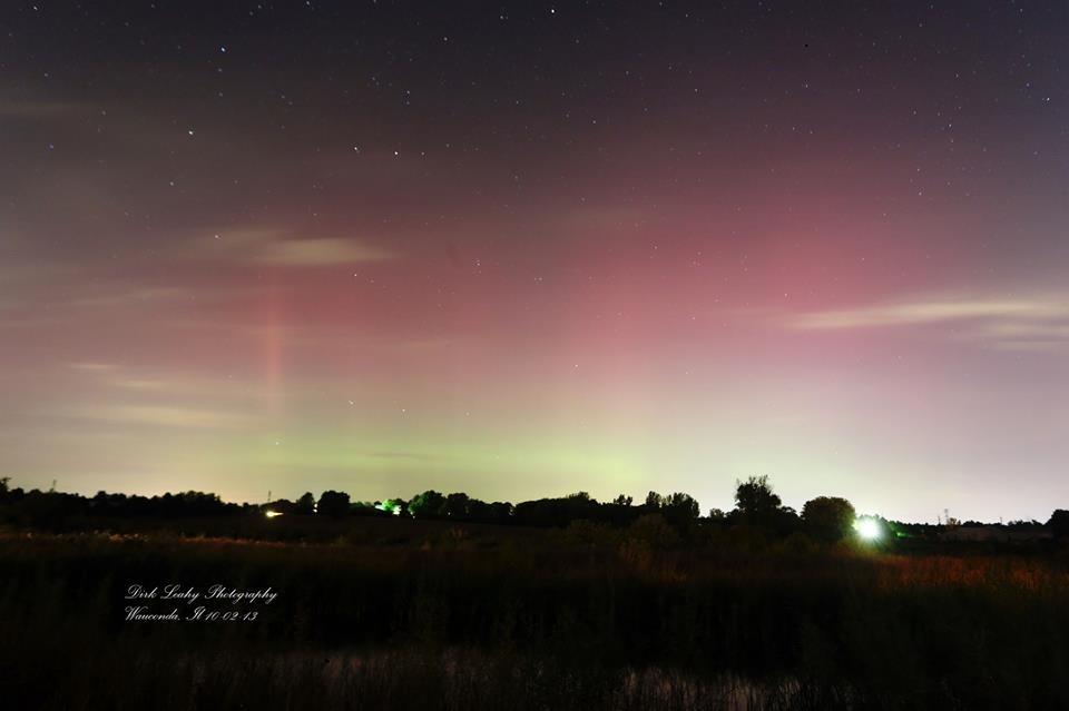 Northern Lights Over Wauconda, IL