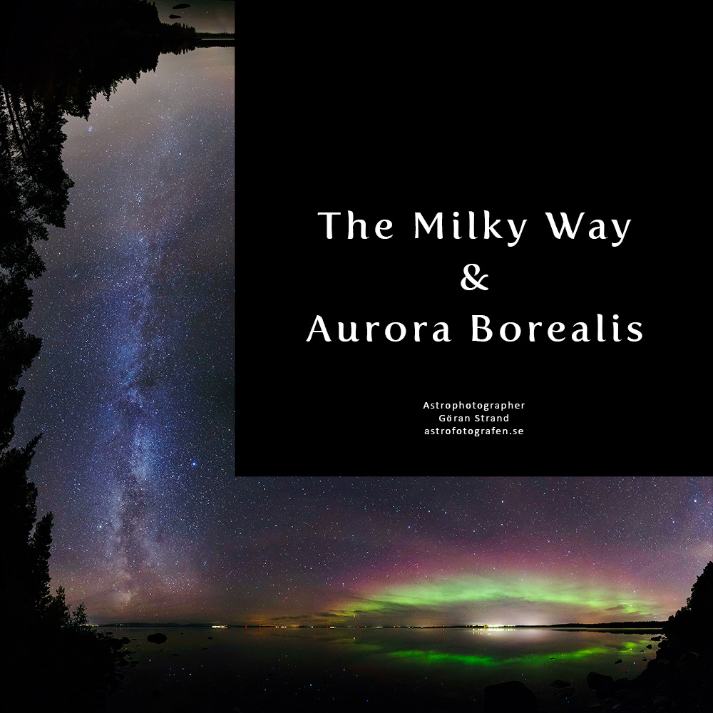 Milky Way and Aurora Borealis Over Sweden