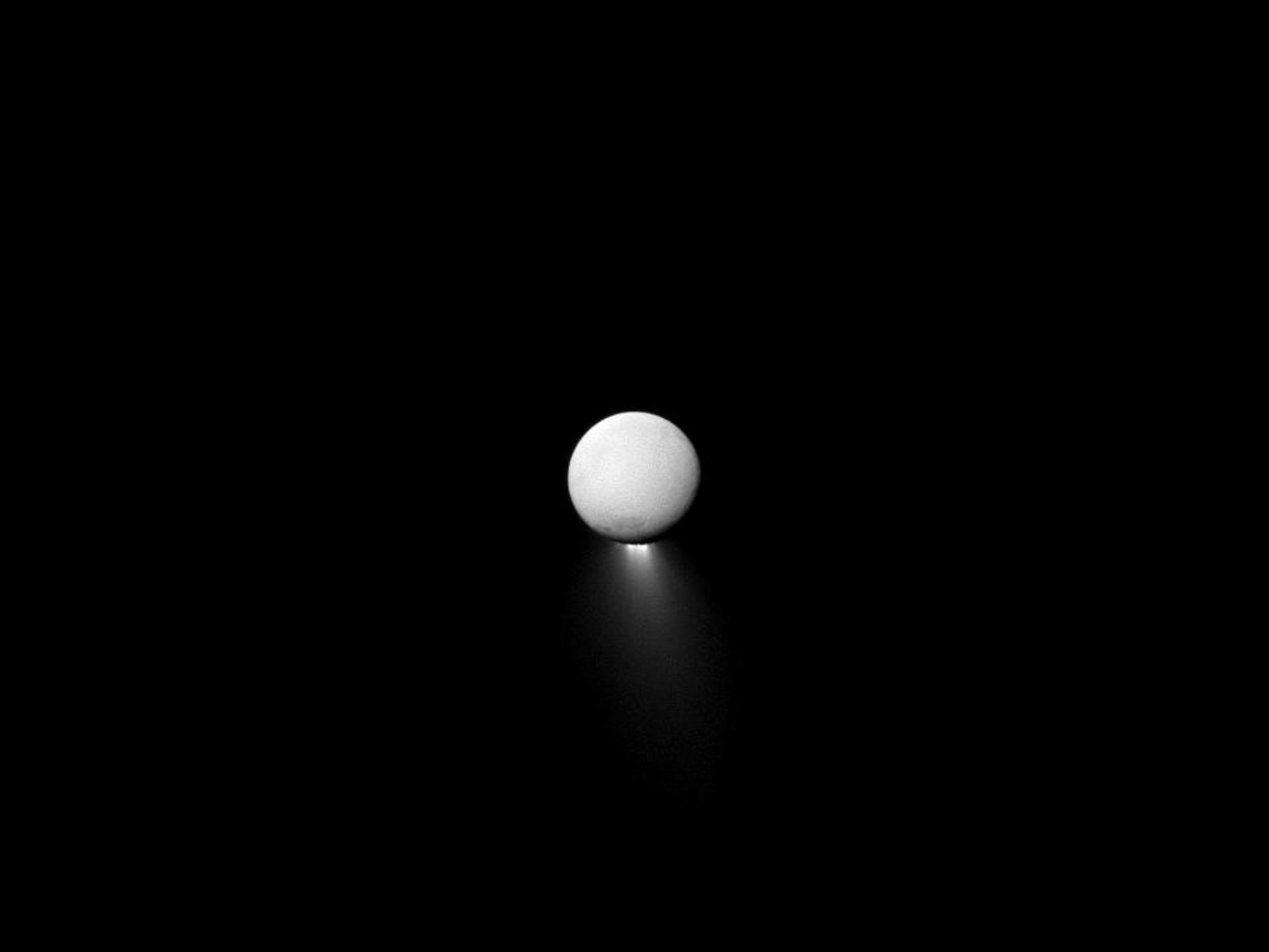 Enceladus Plume space wallpaper