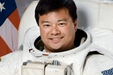 A portrait of former astronaut Leroy Chiao, who commanded the International Space Station during his 15-year NASA career.