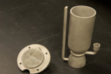 Tri-D is a 3D-printed third-stage rocket engine. It is just 7 inches long and is designed for a CubeSat launcher.