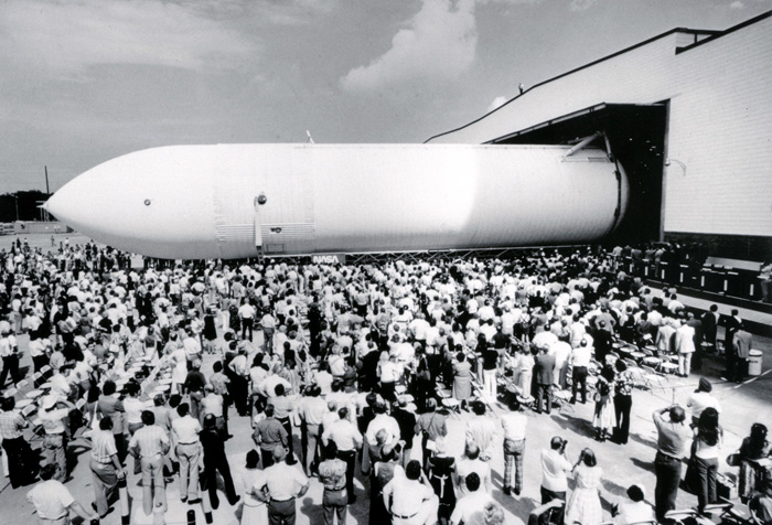 Space History Photo: The First Space Shuttle External Tank