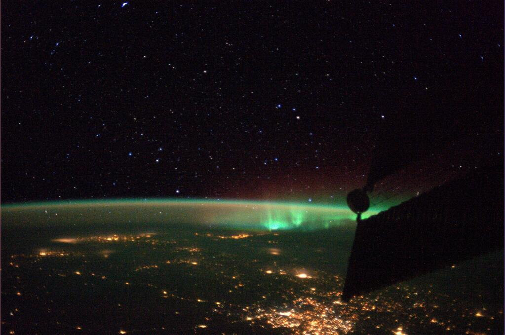 Aurora Seen by Luca Parmitano Aboard the ISS