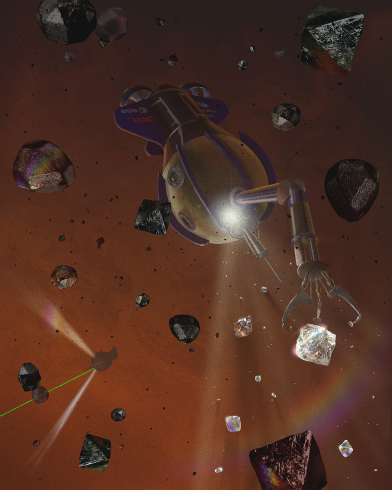Diamond Rain May Fill Skies of Jupiter and Saturn