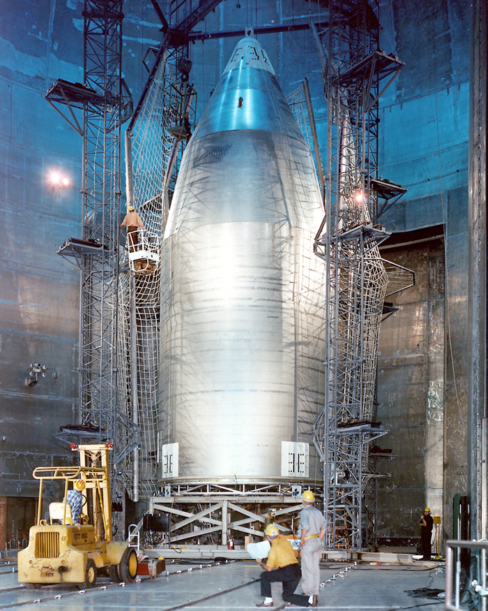 Space History Photo: Skylab Shroud in Plum Brook Space Power Facility