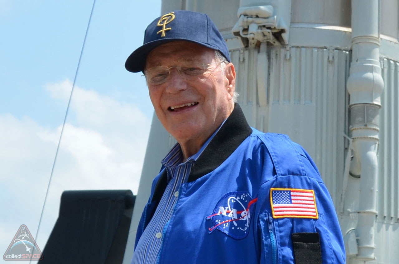Scott Carpenter in 2011 at Kennedy Space Center
