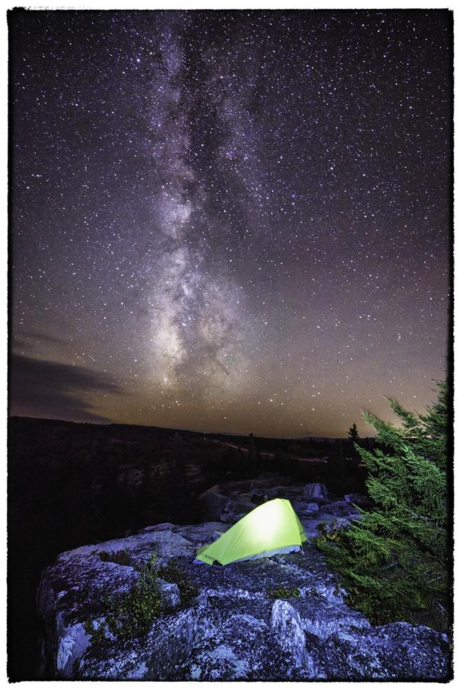 Milky Way and Bear Rocks in West Virginia