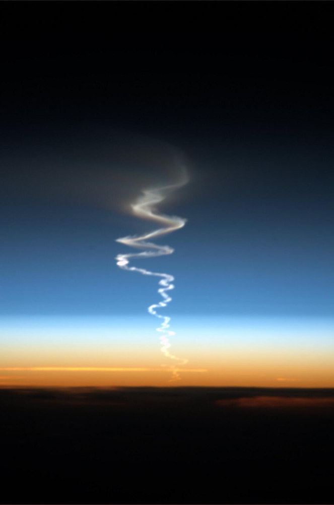 Missile Launch Seen From the ISS