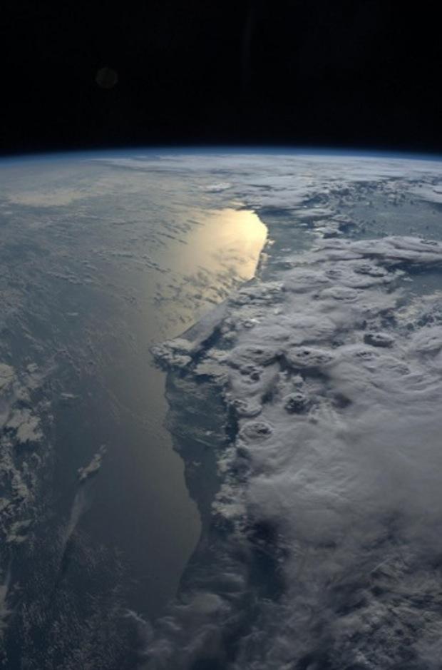 Karen Nyberg: Storms Over Ghana