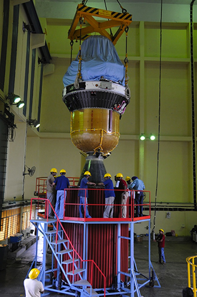 PSLV-C25 Third and Fourth Stages of Vehicle Integration