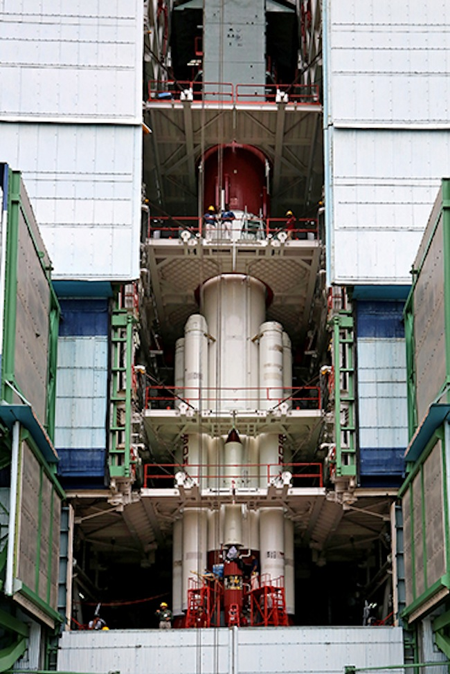 PSLV-C25 at First Stage