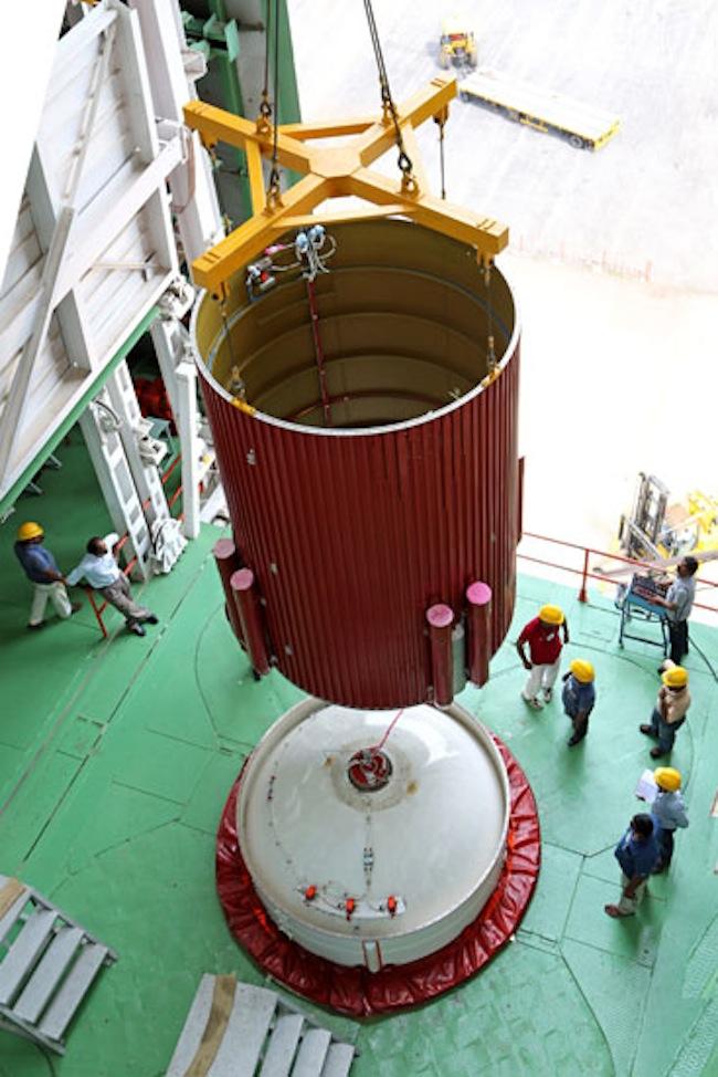 PSLV-C25 Hoisted