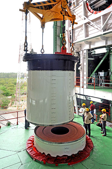 PSLV-C25 First Stage Segments Join
