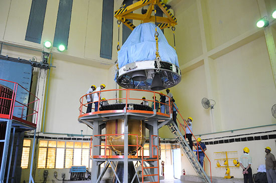 PSLV-C25 First Stage Integration