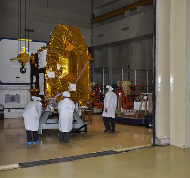 Mars Orbiter Spacecraft Moved for Testing