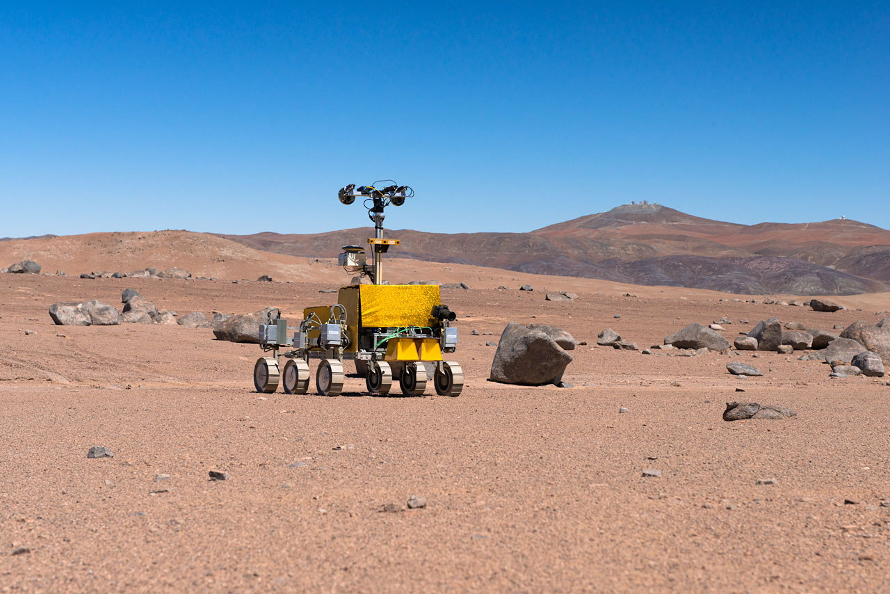Mars Rover Tested Near Paranal Observatory