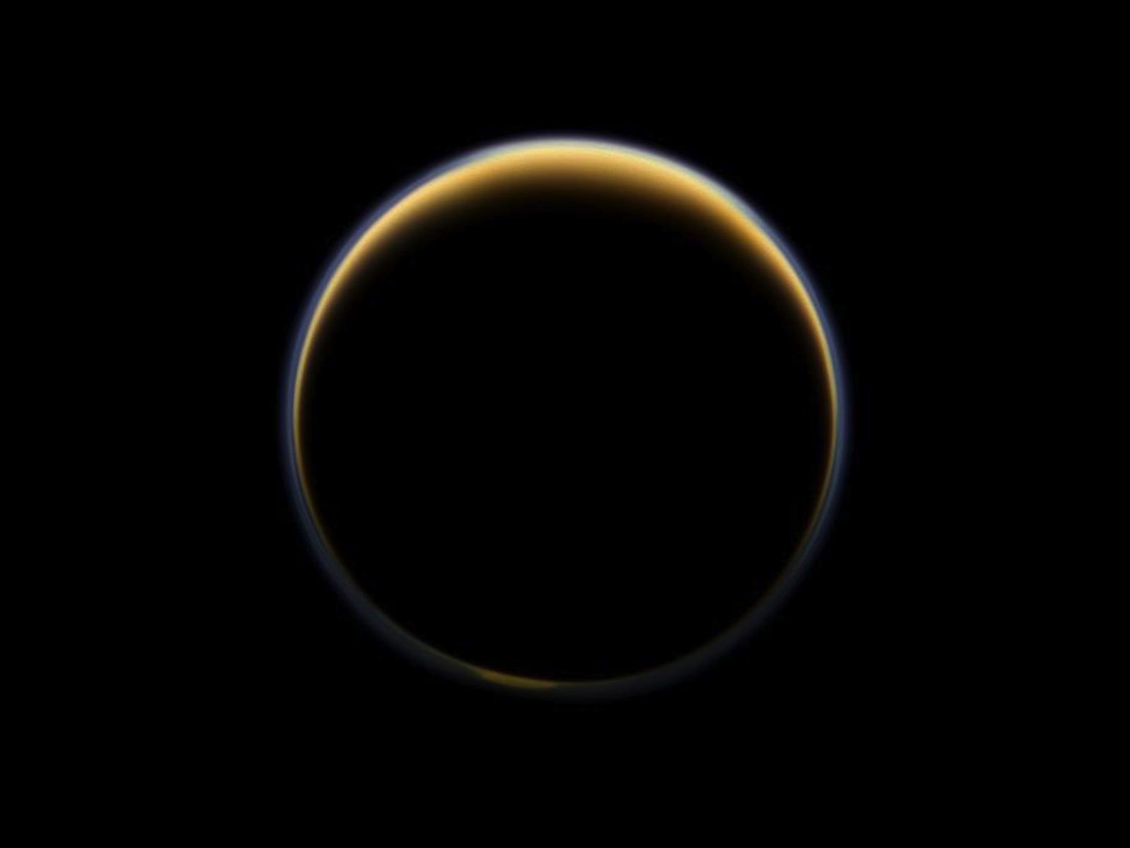 Cassini Toward Night Side of Titan