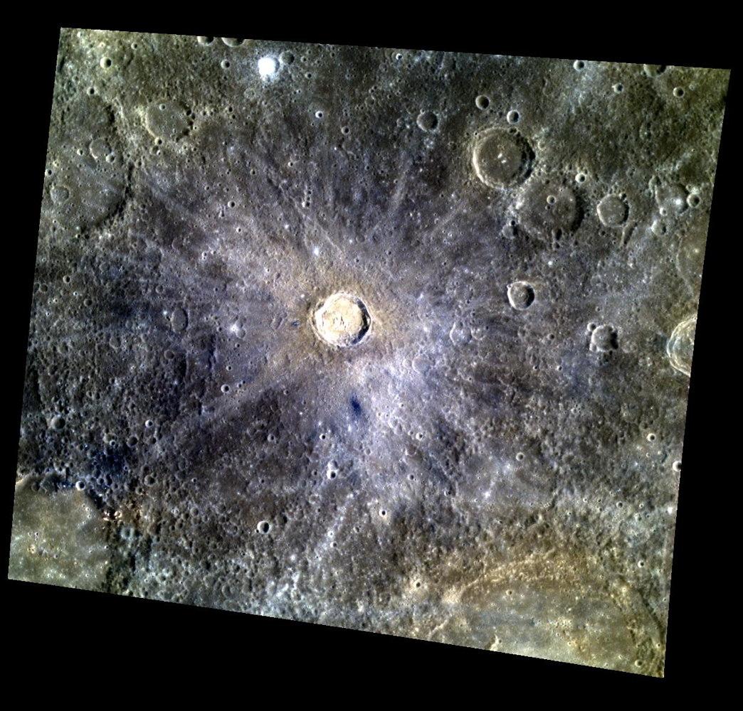 Tansen Crater on Mercury