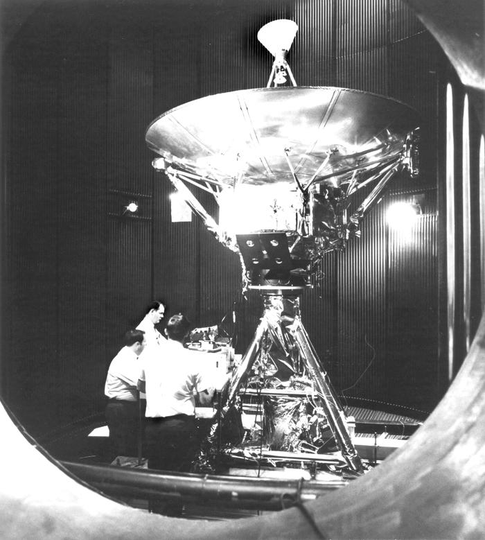 Space History Photo: Testing Pioneer F Spacecraft