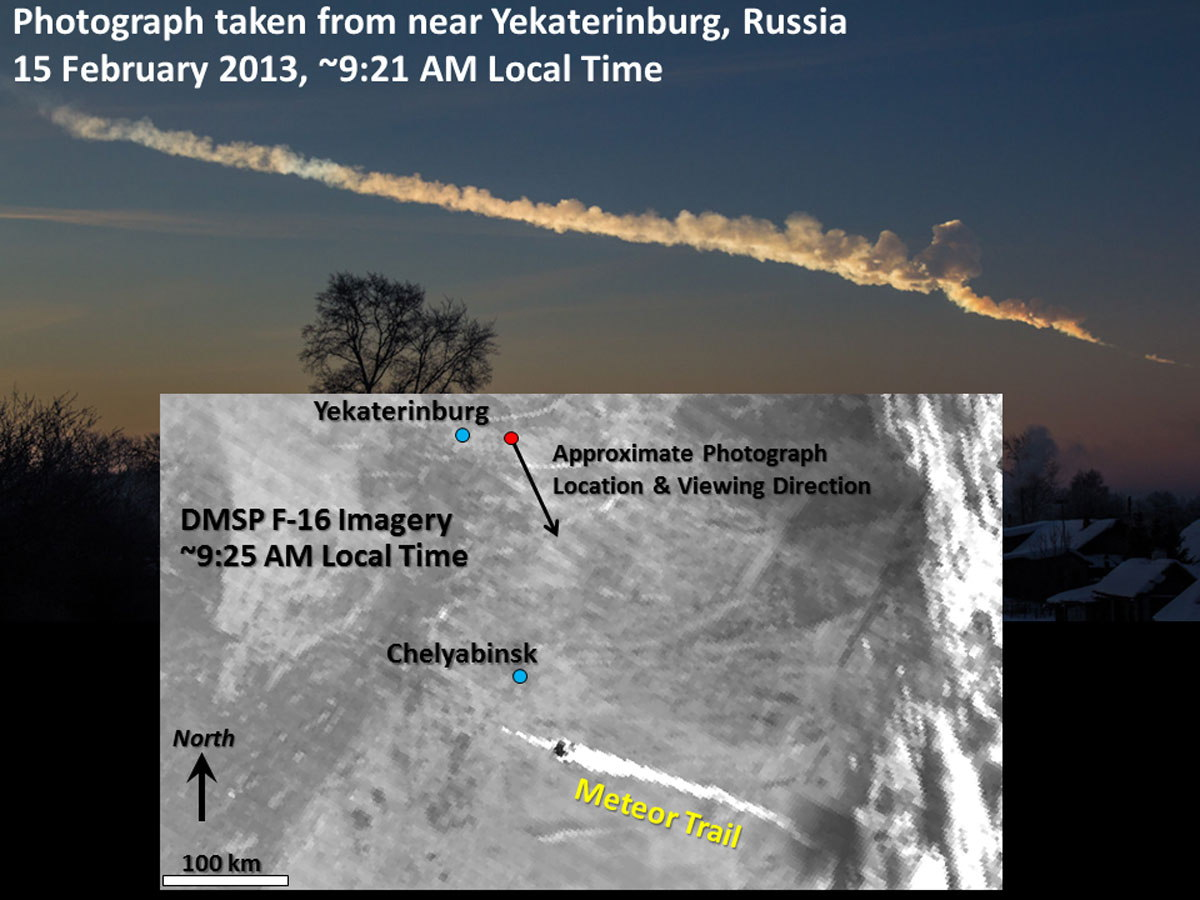 How Satellites Watched Russian Meteor Explosion from Space