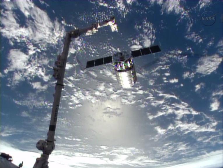 Orbital Sciences Cygnus Leaves ISS