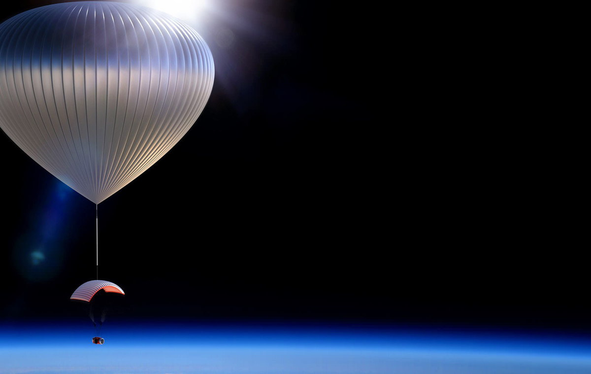 World View Enterprises Balloon Above the Limb of the Earth