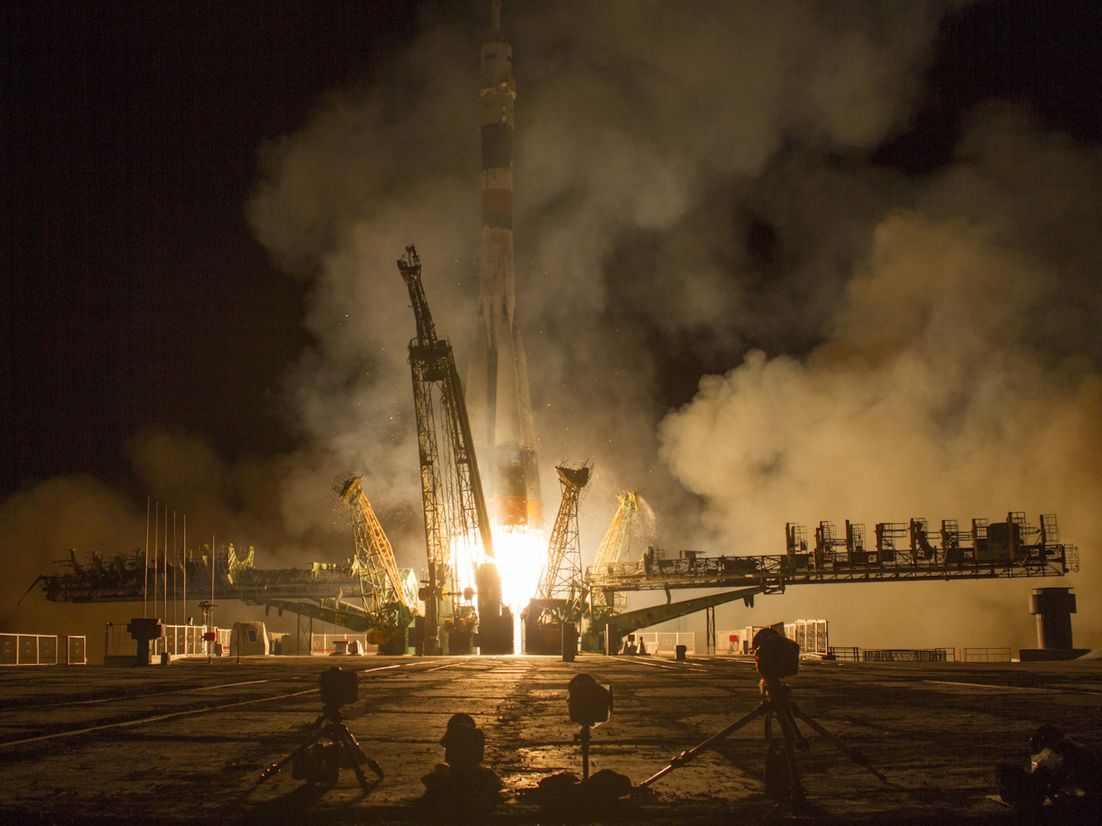 Expedition 37 Soyuz TMA-10M Rocket Launch