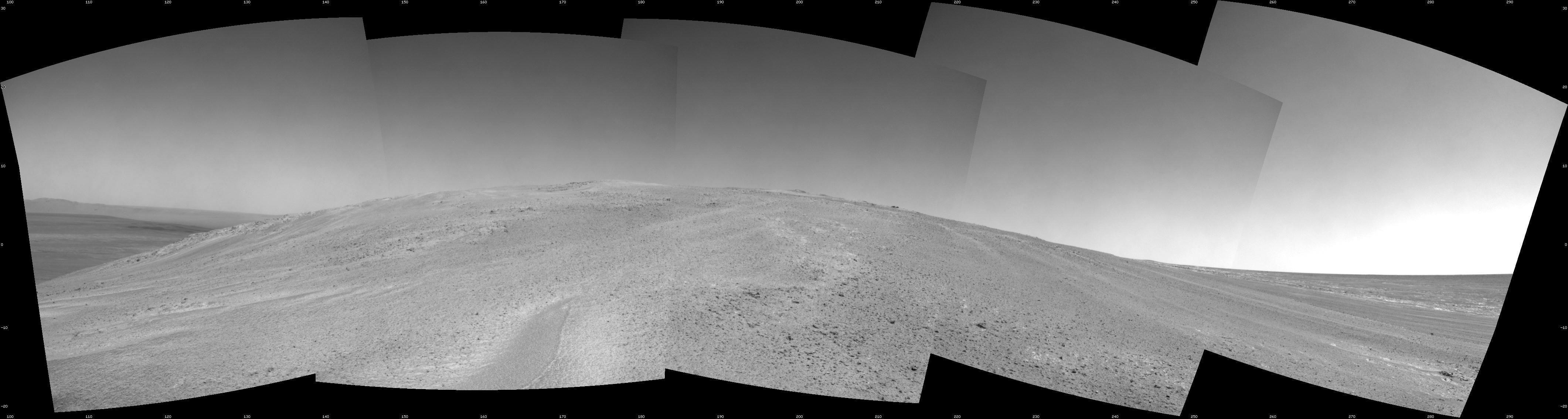 Mars Rover Opportunity Begins Climbing Martian Hill