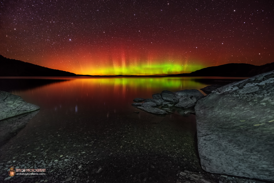 Northern Lights Over Moosehead Lake