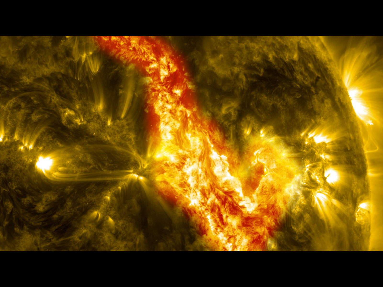 Canyon of Fire: Magnetic Filament on the Sun