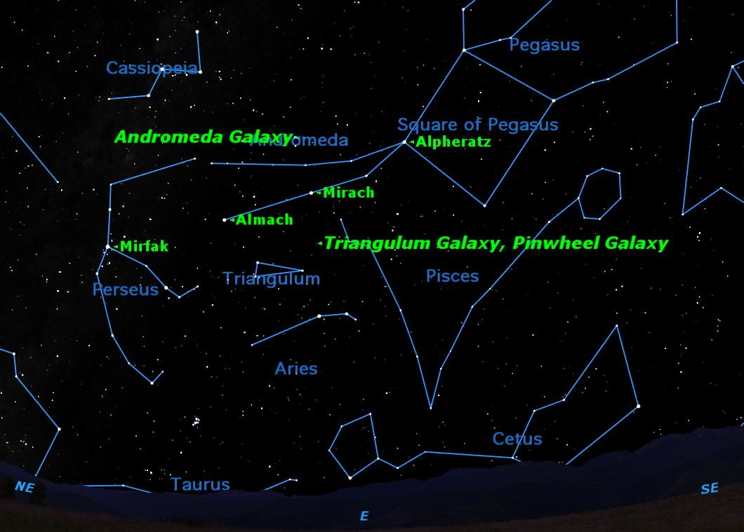 Autumn Galaxies Reign in Night Sky This Week