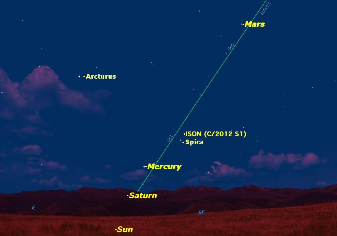 Mercury at Greatest Elongation West, November 2013