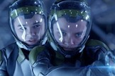 "Hailee Steinfeld stars as Petra Arkanian and Asa Butterfield stars as Ender Wiggin in Summit Entertainment's ""Ender's Game."""
