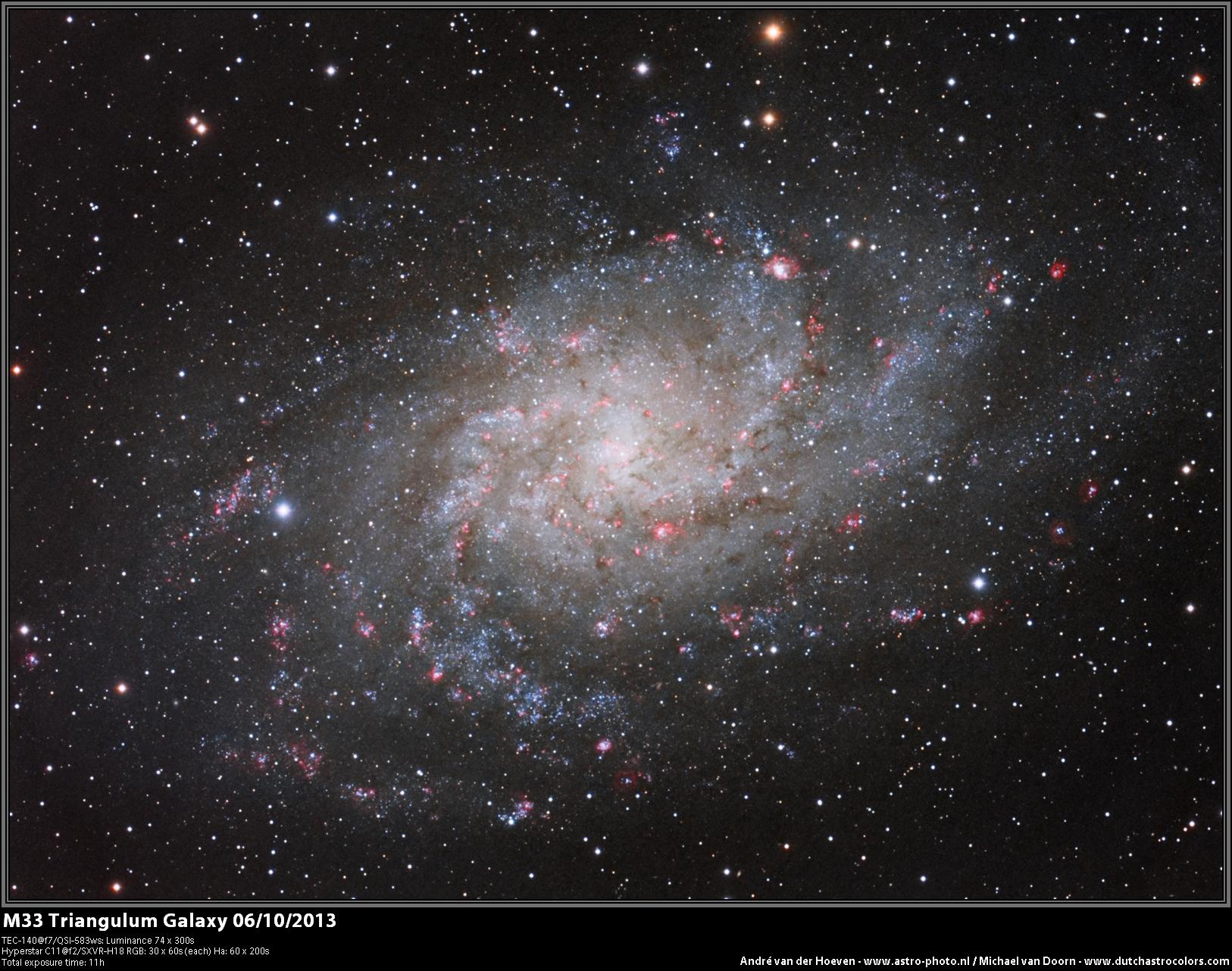 Triangulum Galaxy by André van der Hoeven and Michael van Doorn