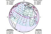 The path of the hybrid solar eclipse of Nov. 3, 2013.