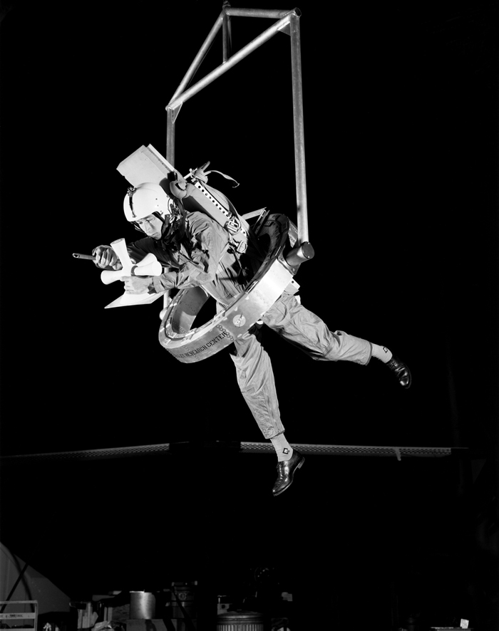 Space History Photo: OMEGA (One-Man Extravehicular Gimbal Arrangement)